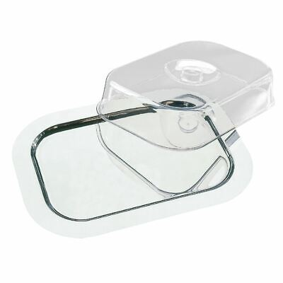 APS Rectangular Tray With Cover Top Stainless Steel Serving Platter Kitchen