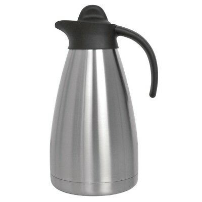 Olympia Screwtop Vacuum Jug 1.5Ltr Stainless Steel Mug Cup Creamer Pitcher