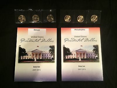 2007-2016 Presidential $1 Dollar P&D 78 Coin Complete Uncirculated Set