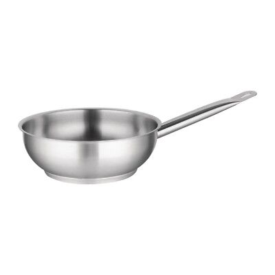 Vogue Flared Saute Pan 200x 65mm Frying Kitchenware With Handle Cookware