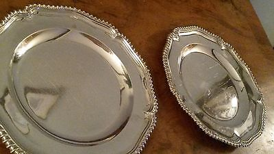 Victorian Sterling Silver Dinner Plates Crown Crest 1902