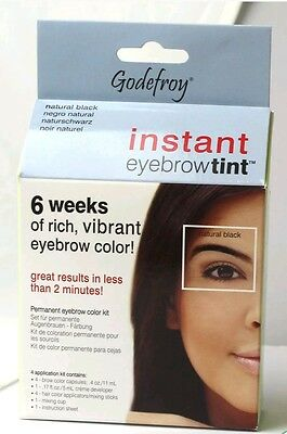 Godefroy Instant Temporary Eyebrow Tint Brown (Natural Black)