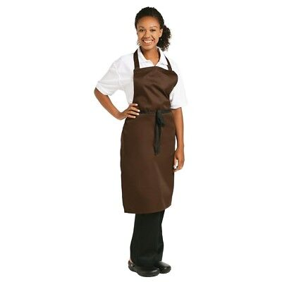 Whites Chefs Apparel Bib Apron Chocolate Chef Kitchen Catering Cooking Serving