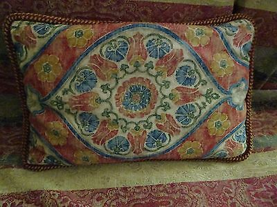 """Antique accent  Pillow 24""""x15""""  cotton fill 2 sided"""