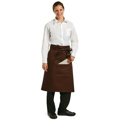 Whites Chefs Apparel Bistro Apron Chocolate Polycotton Catering Kitchenwear