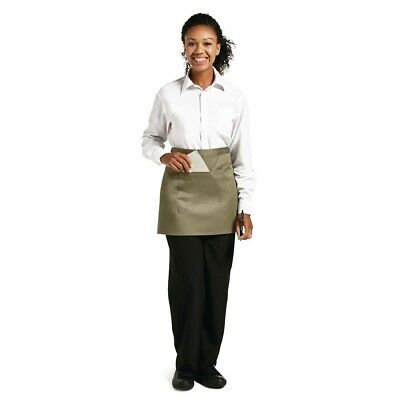 Whites Chefs Apparel Bistro Apron Waist Olive Chef Kitchen Catering Cooking