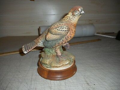 Spruce Grouse By Andrea, Sadek. Porcelaine Fowl Figurine