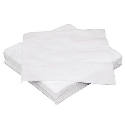 Fiesta White Cocktail Napkin 25x25cm 1 Ply x2000 Wipes Tableware Serviettes