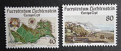 Liechtenstein (1977) Europa CEPT / Maps / Mountains - Mint (MNH)