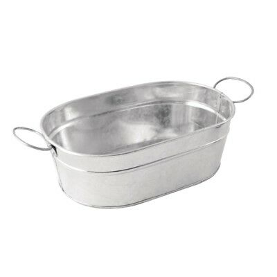 Rectangular Galvanised Steel Tub Serving Food Display Presentation Tableware
