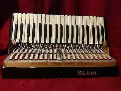 "Black Mauro Accordion Repair Part - Treble Section 19"" x 10.5"" x 9.5"""