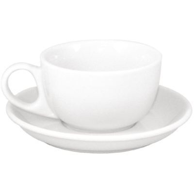 48X Athena Hotelware Cappuccino Cups And Saucers 145mm Porcelain Tea Coffee