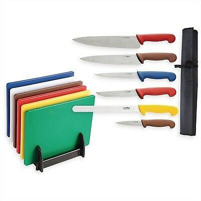 Hygiplas Colour Coded Chopping Set Stainless Steel Cutting Kitchen Restaurant
