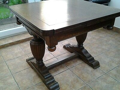 Antique/Vintage Solid Oak Dining Table