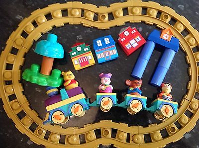 Battery Operated Musical Train Set Mega Bloks Disney Winnie The Pooh 3 Friends.