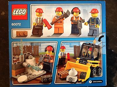 New Lego City Starter Set 60072 with 4 Lego Construction Worker Mini figures