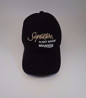 BBA Aviation Signature Flight Support Black Cap Hat One Size Dulles National Fly