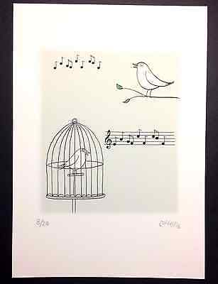 Signed and numbered ~ limited edition A4 ART PRINT ~ 'Songbirds'