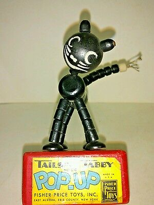 Vintage Fisher Price 1947 Tailspin Tabby Pop-Up Toy Works.