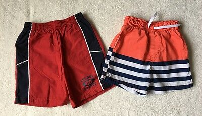 ***Carters/Primark Baby boys swimming shorts 12-18 months VGC***