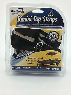 4-Pack Bimini Top Straps by Boat Buckle Brand