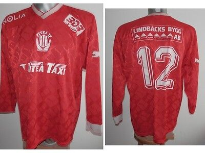 Very Rare 90' Pitea IF PIF #12 L/S Home Sweden Shirt Football Swerige size XL