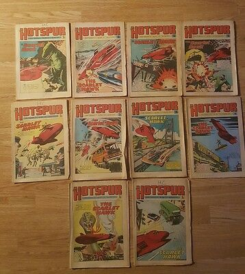 10 Hotspur Comics from 1974 Issues #759 to #768