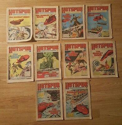 10 Hotspur Comics from 1974 Issues #769 to #779
