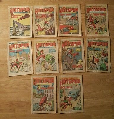 10 Hotspur Comics from 1974 Issues #780 to #790