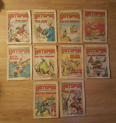 10 Hotspur Comics from 1974 Issues #791 to #802