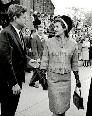 John F. Kennedy & First Lady Jackie Leave St. Mary's Church  8X10 Photo (Zy-913)