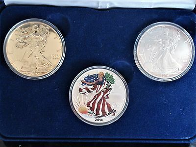 2014 Silver  Eagle 3 piece Set
