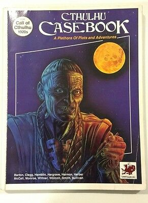 Cthulhu Case Book RPG Call of Cthulhu 1920s Game System PB 1990