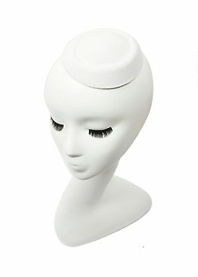 "White 5"" Oval Pillbox Stewardess Fascinator Millinery Hat Base -14 Colors"