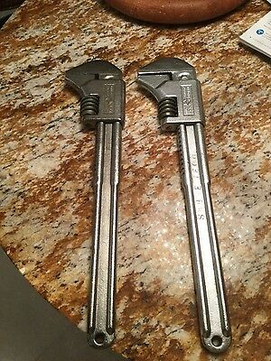 "2 Ford Cresent Automotive Sliding Wrenches 15"" C715"