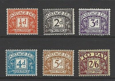 GB QEII 1954/5 SG D40-45 Postage Due. Unmounted MNH set.  Cat £250 - See descr.