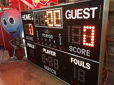 Vintage Old School Score Board, Sports Bar Restaurant