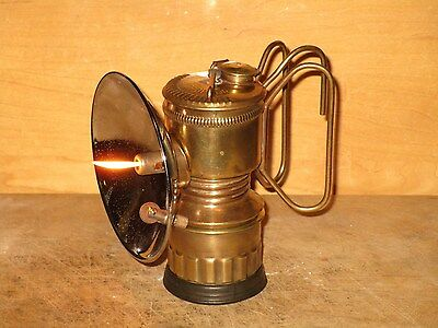 """Miners  GUY'S DROPPER """"TALL BOY"""" CARBIDE LAMP-NICE!!"""
