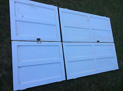 Reclaimed Georgian  Painted Internal Pine alcove / Cupboard Panelled Doors X 4