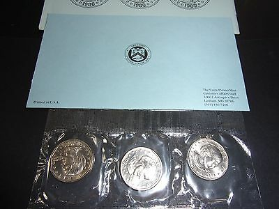 1980 Susan B. Anthony Dollar Souvenir Set - P-D-S