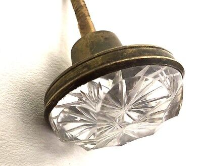 @1830 Empire Federal Antique Hardware Brass Cut Glass Crystal Drawer Pull Knob
