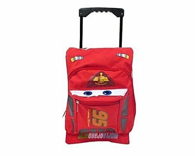 "New Disney Pixar Cars 2 Rolling Lightning McQueen 16"" Luggage Suitcase"