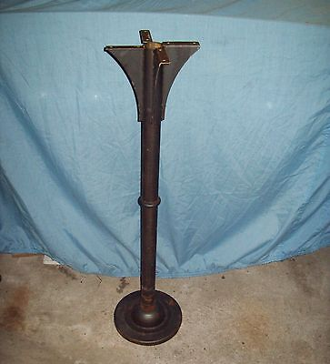 Salvaged Industrial Iron Table Ceiling Base Pedestal Machine Stand Steampunk