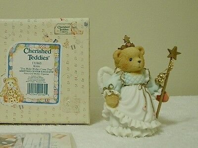 "Cherished Teddies  ""KITTIE"" ADOPTION CENTER EXCLUSIVE  FAIRY GOD MOTHER"