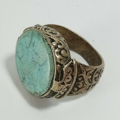 Medieval Silver Ring Turquoise Stone Wonder Silver Ring