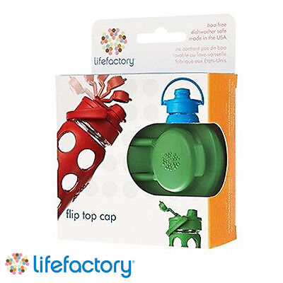 Lifefactory Flip Cap for 16oz/22oz Glass Bottles, Green *BRAND NEW*