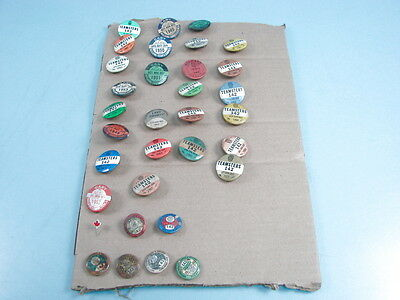 VTG LOT OF 33 Early Teamster Union Badges Pins Button Gary Indiana 1950's 1960's