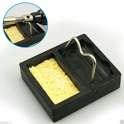New Soldering Iron Gun Stand Holder Support Base Station and Solder Sponge