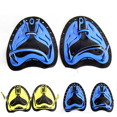 Swimming Flippers Hand Swimming Paddles Fins Training Gloves Pad Hand Webbed New