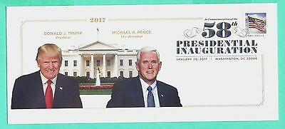 58th PRESIDENTIAL INAUGURATION OFFICIAL SOUVENIR CACHET, TRUMP-PENCE, 1-20-2017
